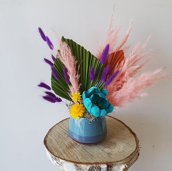 Vibrant Dried Vase Arrangement