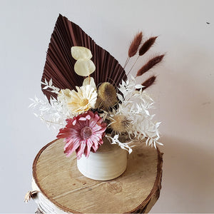 Natural/Pink Dried Vase Arrangement
