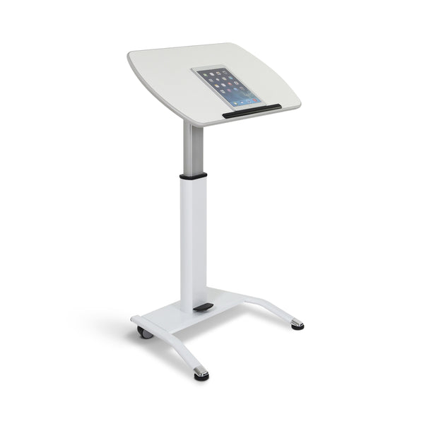 Stand A Desk Pneumatic Lectern Adjustable-Height - White