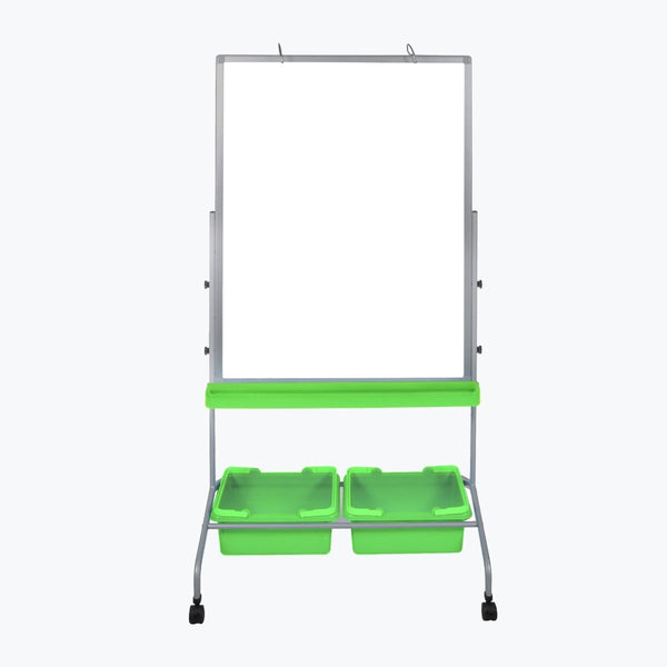 Stand A Desk Classroom Whiteboard with Bins
