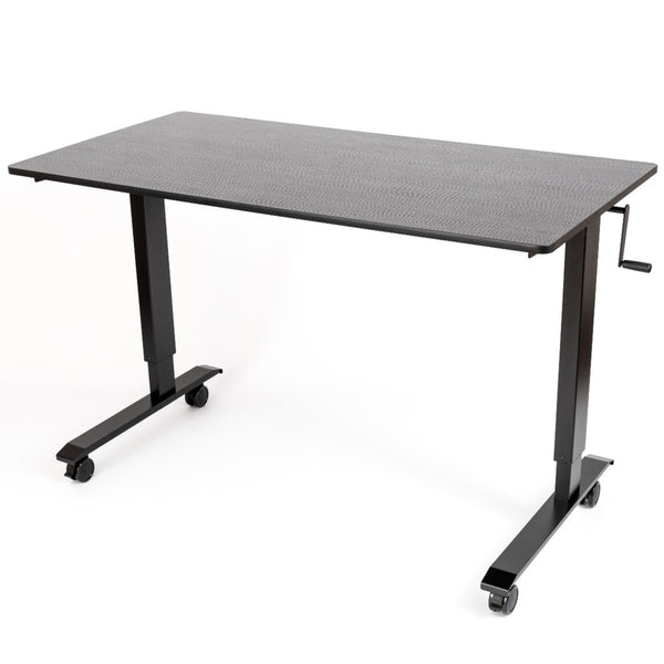 Stand A Desk Adjustable Crank Desk - Black Oak