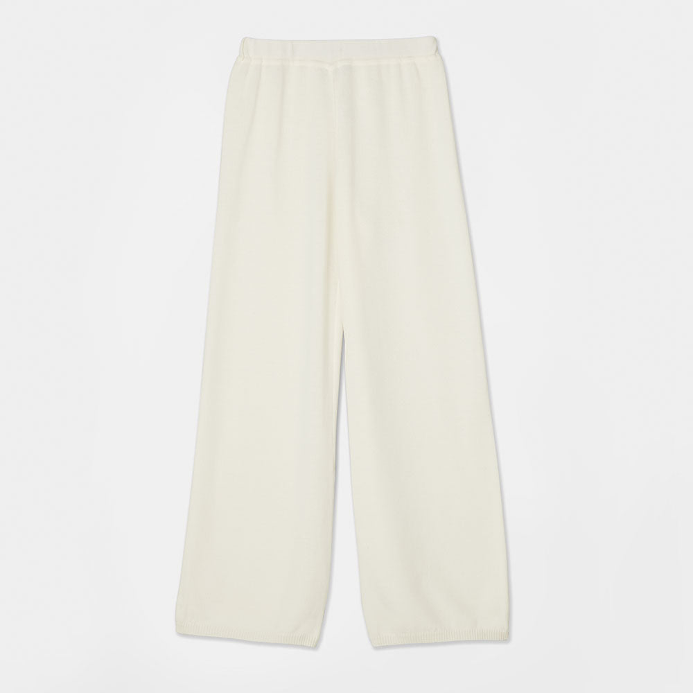Essential Knit Pants - Creme White