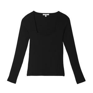 Laden Sie das Bild in den Galerie-Viewer, Liapure Rib Longsleeve - black