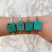 Load image into Gallery viewer, Turquoise Square Cuff - The Catalyst Mercantile