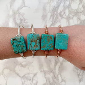 Turquoise Square Cuff - The Catalyst Mercantile
