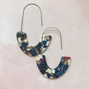 Marbled Resin Drop Hoops