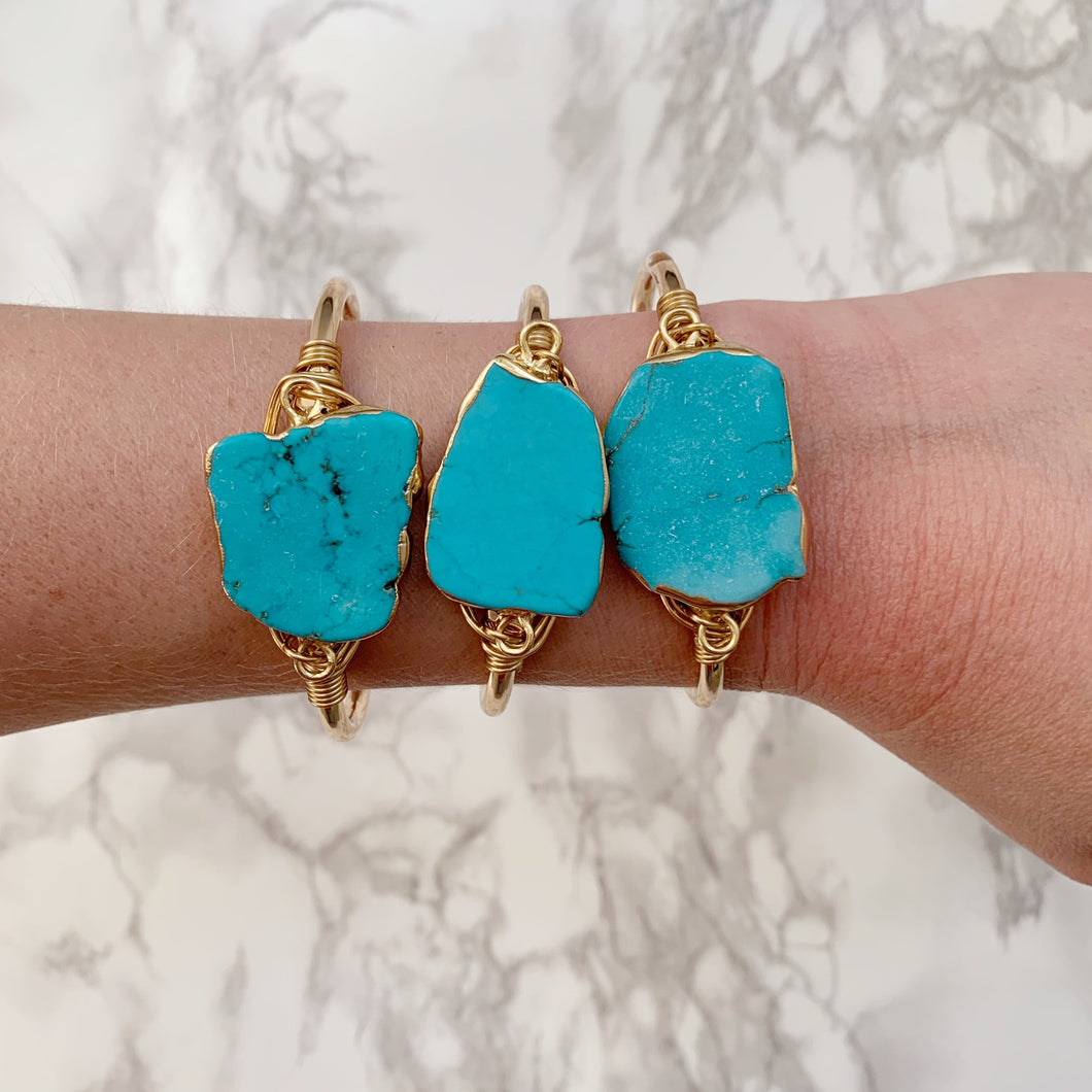 Turquoise Nugget Cuff - The Catalyst Mercantile