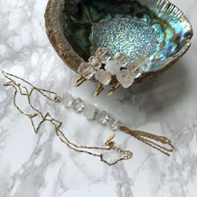 Load image into Gallery viewer, Long Natural Crystal Tassel Necklace - The Catalyst Mercantile