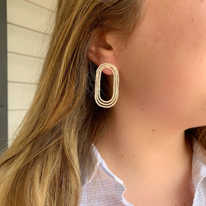 Silver Rainbow Hammered Oval Hoops - The Catalyst Mercantile