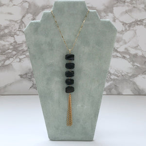 Long Natural Crystal Tassel Necklace - The Catalyst Mercantile