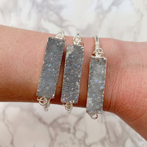 Druzy Bar Cuff - The Catalyst Mercantile