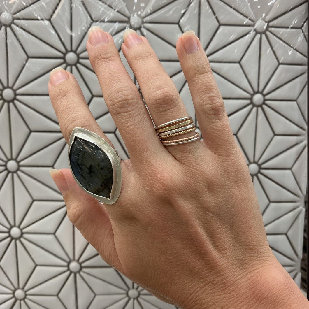 Labradorite Cocktail Ring - The Catalyst Mercantile