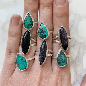 Turquoise Teardrop Ring Size 9.5 - The Catalyst Mercantile