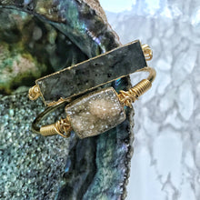 Load image into Gallery viewer, Labradorite Bar Cuff - The Catalyst Mercantile