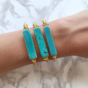 Turquoise Bar Cuff - The Catalyst Mercantile