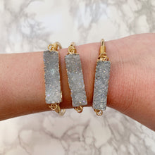 Load image into Gallery viewer, Druzy Bar Cuff - The Catalyst Mercantile