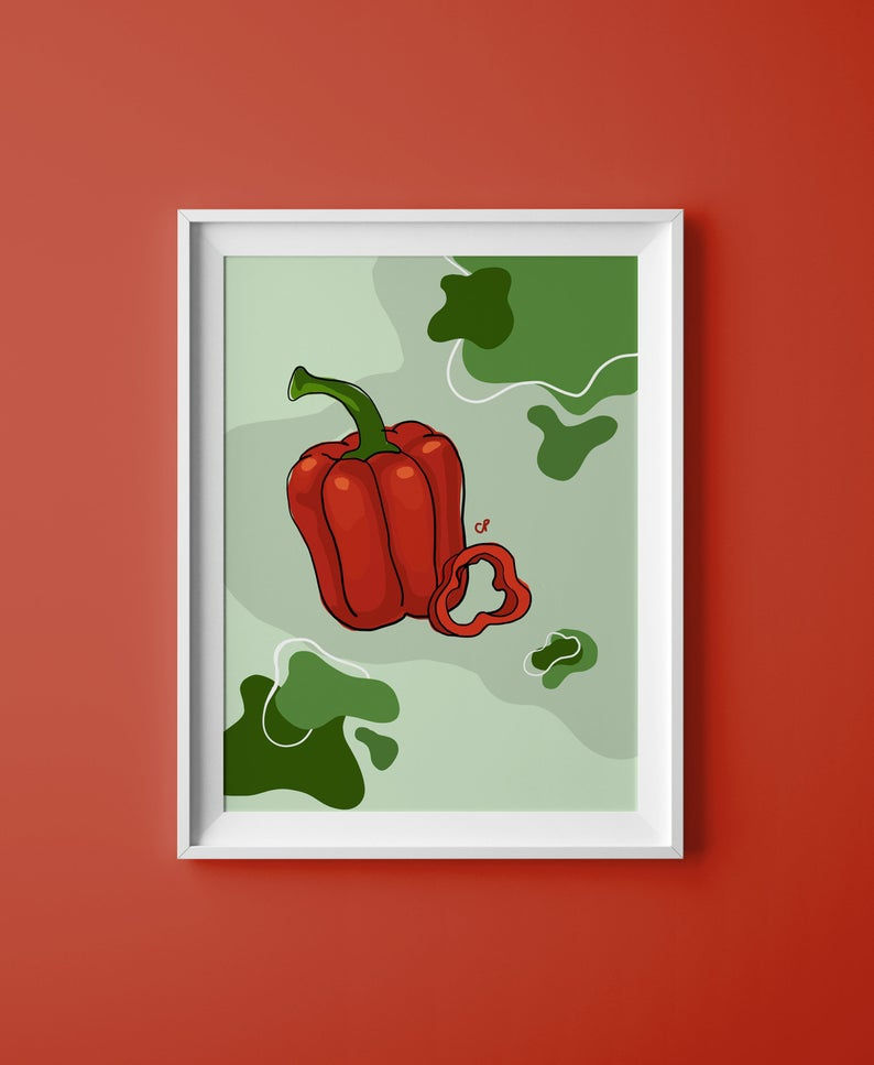 Bell Pepper Print - The Catalyst Mercantile