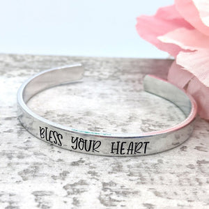 """Bless your Heart"" Cuff"