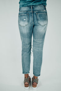 Benny Distressed Girlfriend Fit Jeans