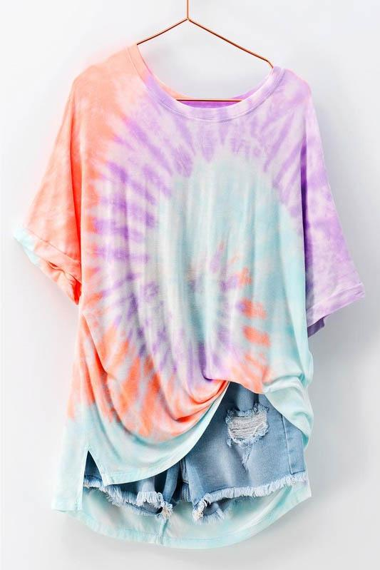 Cotton Candy Swirl Tie Dye Top - The Catalyst Mercantile