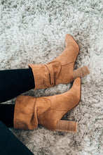 Load image into Gallery viewer, Darby Camel Slouch Bootie