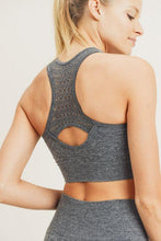 Load image into Gallery viewer, Fierce Chevron Front Racerback Seamless Sports Bra