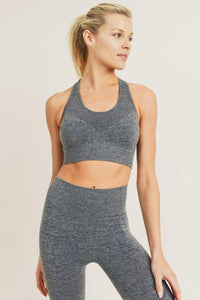 Fierce Chevron Front Racerback Seamless Sports Bra