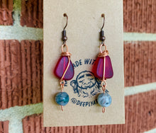 Load image into Gallery viewer, Sea Glass Wire Wrapped Earrings - The Catalyst Mercantile
