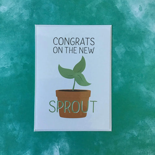 Congrats on the New Sprout Greeting Card - The Catalyst Mercantile