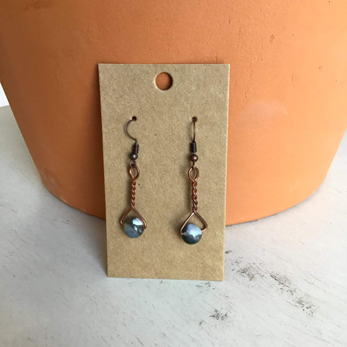 Agate Twist Earrings - The Catalyst Mercantile