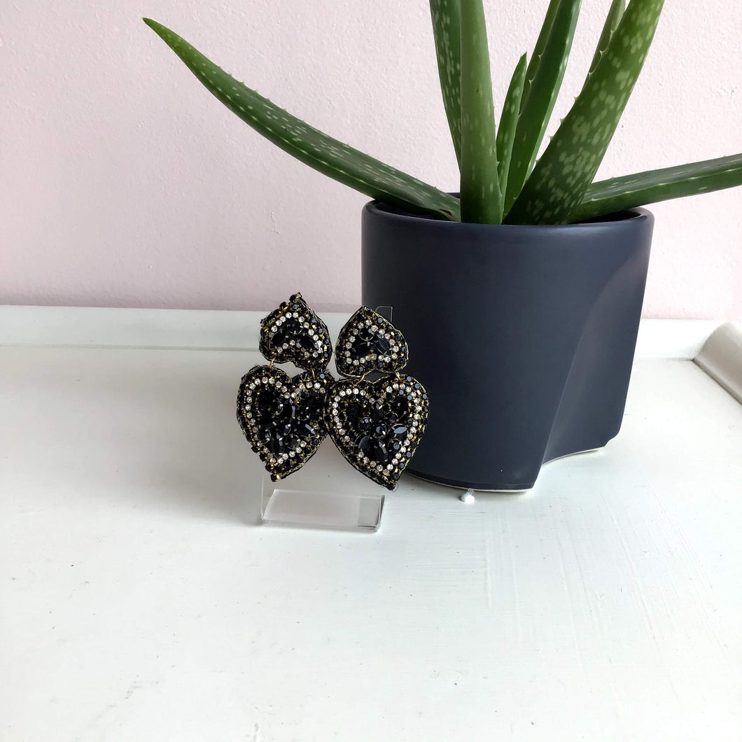 Black Diamond Earrings - The Catalyst Mercantile