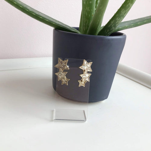Triple Star Statement Earrings - The Catalyst Mercantile