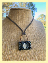 Load image into Gallery viewer, Moonstone Padlock Pendant