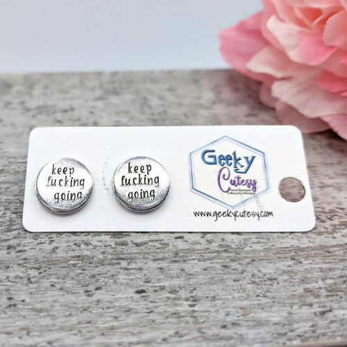 Hand-stamped Stud Earrings