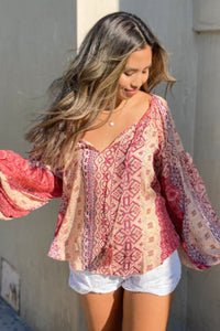 Keilana Marrakesh Print Top