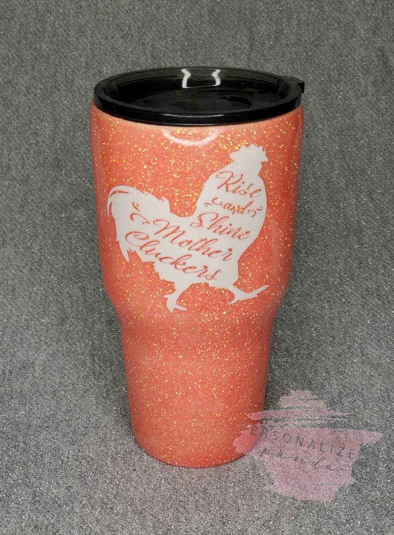 Rise and Shine Coral  Tumbler