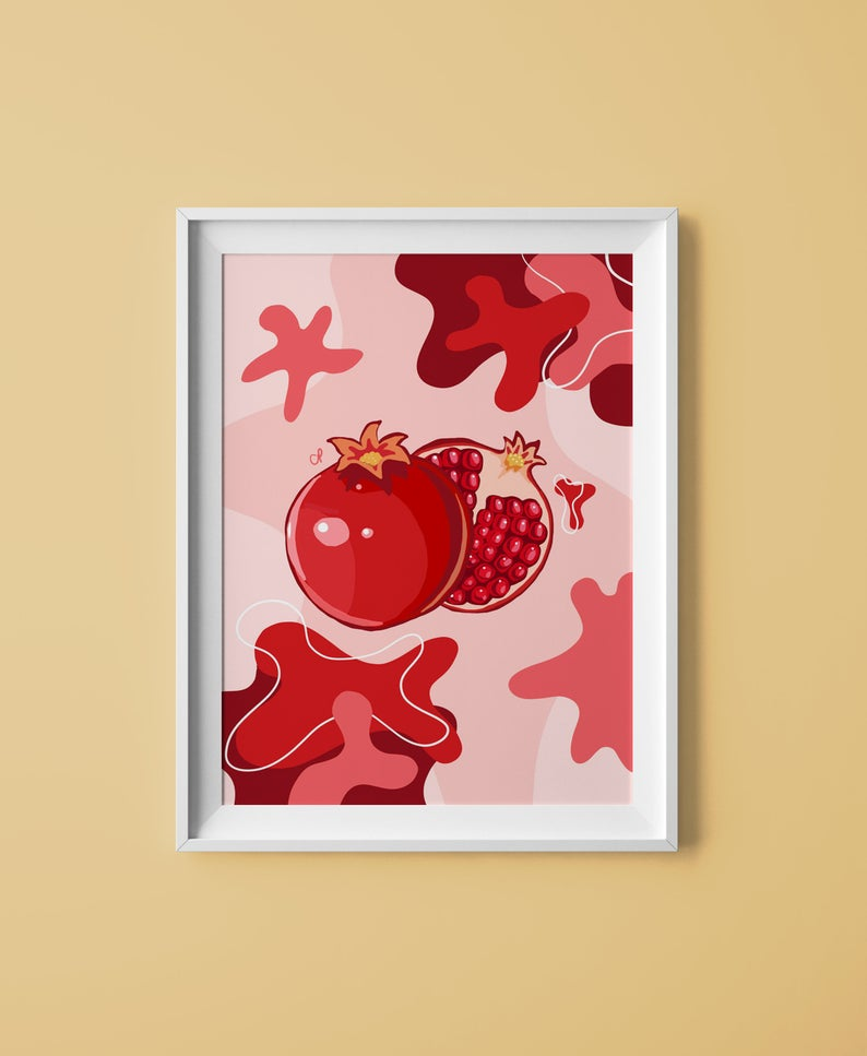 Pomegranate Print - The Catalyst Mercantile