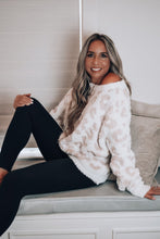 Load image into Gallery viewer, Pebble Beach White & Pink Leopard Sweater