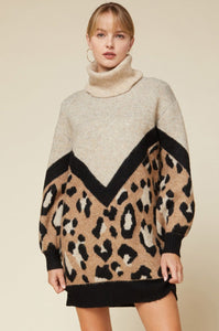 Rule the World Leopard Tunic Dress