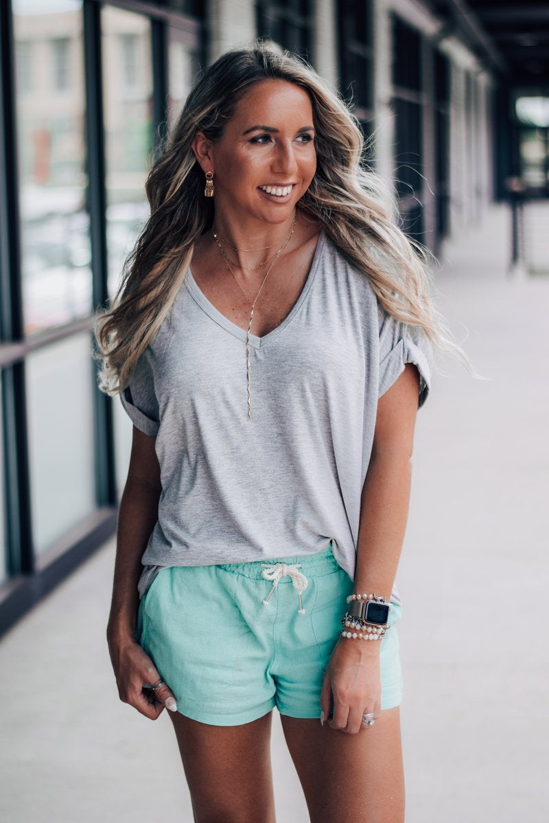 Sorrento V-Neck Tunic Tee