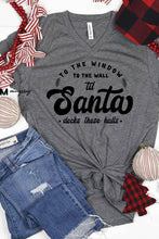 Load image into Gallery viewer, Santa Decks These Halls V-Neck Tee