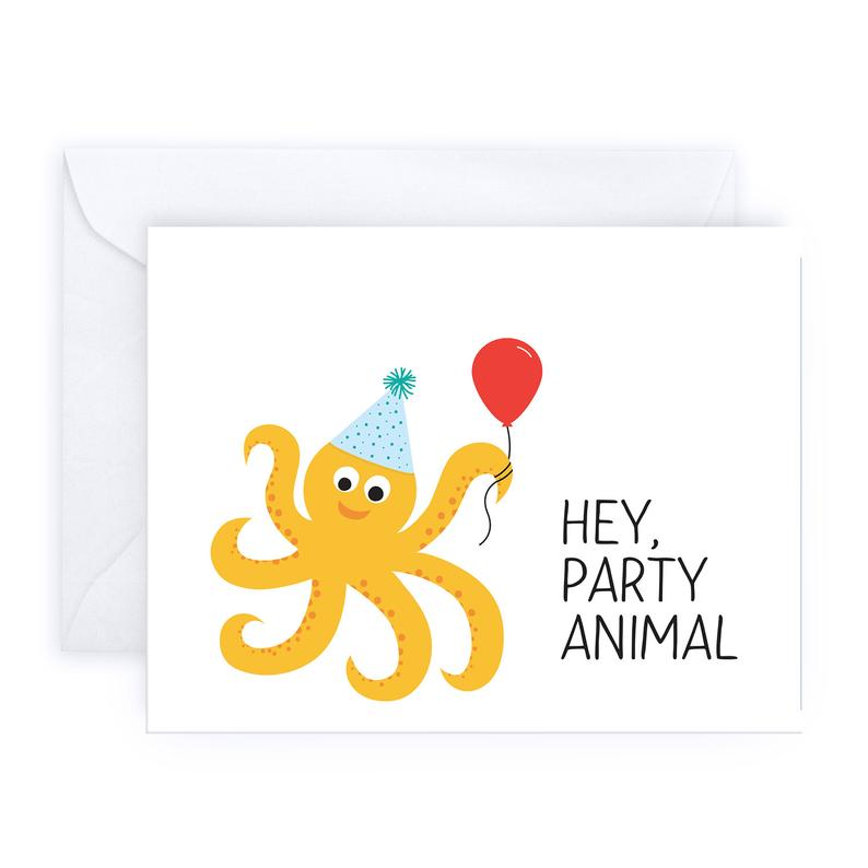 Hey, Party Animal Greeting Card