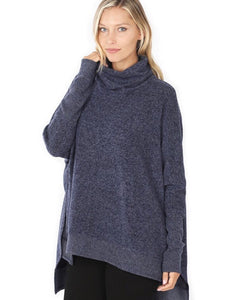 Cozy Cowl Neck Tunic Top