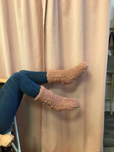 Load image into Gallery viewer, Teddy Bear Sherpa Cozy Socks with Grippers