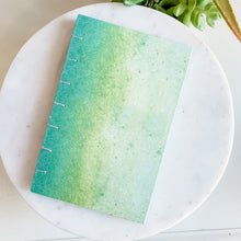 Load image into Gallery viewer, Green Tie Dye Hand Bound Journal