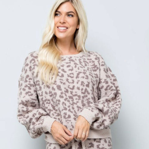 Cozy Leopard Pullover Sweater