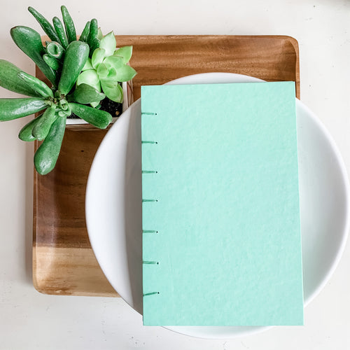 Solid Mint Hand Bound Journal