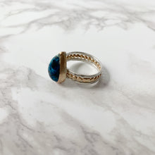 Load image into Gallery viewer, Mixed Metals Teardrop Chrysocolla Ring size 7.5 - The Catalyst Mercantile