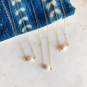 Freshwater Pearl Simple Dainty Necklace
