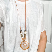Load image into Gallery viewer, You're a Peach Agate Statement Necklace